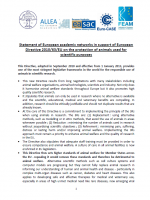 THUMBNAIL Statement of European academic networks Directive animal research