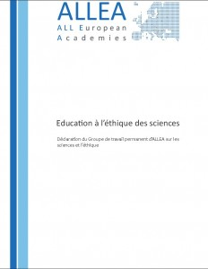 Education a léthique des sciences Cover