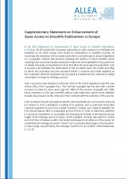 Supplementary Statement on Open Access